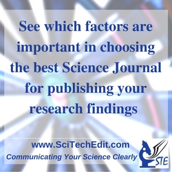 STE rev. See which factors are importing in choosing a Science Journal